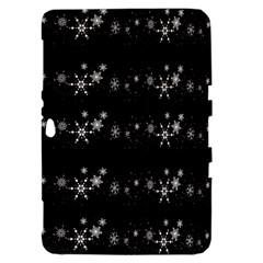 Black elegant  Xmas design Samsung Galaxy Tab 8.9  P7300 Hardshell Case