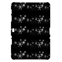 Black elegant  Xmas design Samsung Galaxy Tab 10.1  P7500 Hardshell Case
