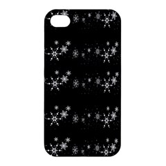 Black elegant  Xmas design Apple iPhone 4/4S Premium Hardshell Case