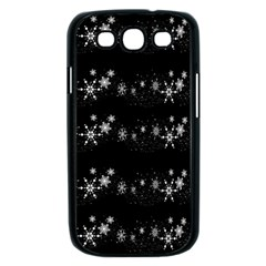 Black elegant  Xmas design Samsung Galaxy S III Case (Black)