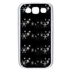 Black elegant  Xmas design Samsung Galaxy S III Case (White)
