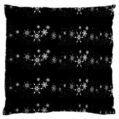 Black elegant  Xmas design Large Cushion Case (Two Sides)