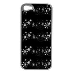 Black elegant  Xmas design Apple iPhone 5 Case (Silver)