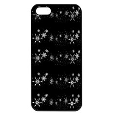 Black elegant  Xmas design Apple iPhone 5 Seamless Case (Black)