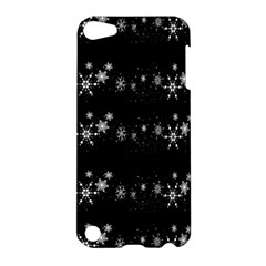 Black elegant  Xmas design Apple iPod Touch 5 Hardshell Case