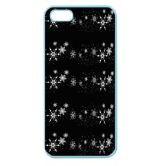 Black elegant  Xmas design Apple Seamless iPhone 5 Case (Color)