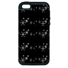 Black elegant  Xmas design Apple iPhone 5 Hardshell Case (PC+Silicone)