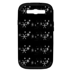 Black elegant  Xmas design Samsung Galaxy S III Hardshell Case (PC+Silicone)