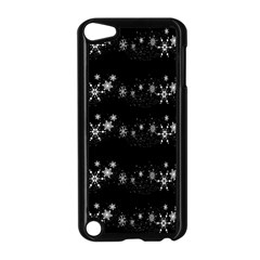 Black elegant  Xmas design Apple iPod Touch 5 Case (Black)