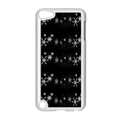 Black elegant  Xmas design Apple iPod Touch 5 Case (White)