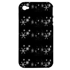 Black elegant  Xmas design Apple iPhone 4/4S Hardshell Case (PC+Silicone)