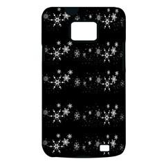 Black elegant  Xmas design Samsung Galaxy S II i9100 Hardshell Case (PC+Silicone)