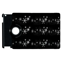 Black elegant  Xmas design Apple iPad 3/4 Flip 360 Case