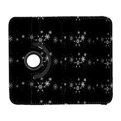 Black elegant  Xmas design Samsung Galaxy S  III Flip 360 Case
