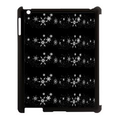 Black elegant  Xmas design Apple iPad 3/4 Case (Black)