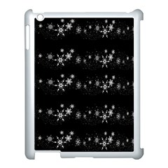 Black elegant  Xmas design Apple iPad 3/4 Case (White)