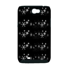 Black elegant  Xmas design Samsung Galaxy Note 2 Hardshell Case (PC+Silicone)