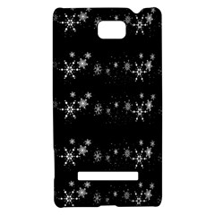 Black elegant  Xmas design HTC 8S Hardshell Case