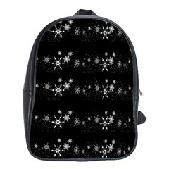 Black elegant  Xmas design School Bags (XL)