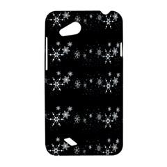 Black elegant  Xmas design HTC Desire VC (T328D) Hardshell Case