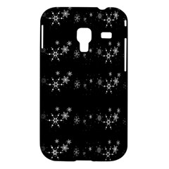 Black elegant  Xmas design Samsung Galaxy Ace Plus S7500 Hardshell Case