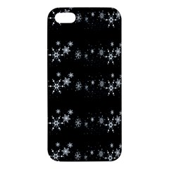 Black elegant  Xmas design Apple iPhone 5 Premium Hardshell Case