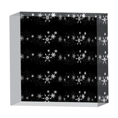 Black elegant  Xmas design 5  x 5  Acrylic Photo Blocks