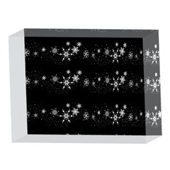 Black elegant  Xmas design 5 x 7  Acrylic Photo Blocks