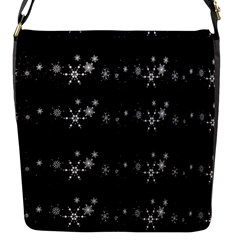 Black Elegant  Xmas Design Flap Messenger Bag (s)