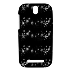 Black elegant  Xmas design HTC One SV Hardshell Case