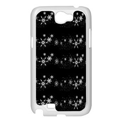 Black elegant  Xmas design Samsung Galaxy Note 2 Case (White)