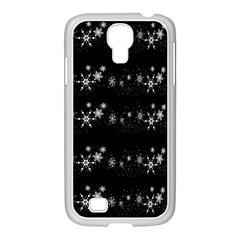 Black elegant  Xmas design Samsung GALAXY S4 I9500/ I9505 Case (White)