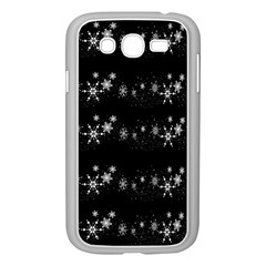 Black elegant  Xmas design Samsung Galaxy Grand DUOS I9082 Case (White)