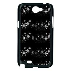 Black elegant  Xmas design Samsung Galaxy Note 2 Case (Black)