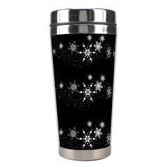 Black elegant  Xmas design Stainless Steel Travel Tumblers