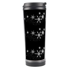 Black elegant  Xmas design Travel Tumbler
