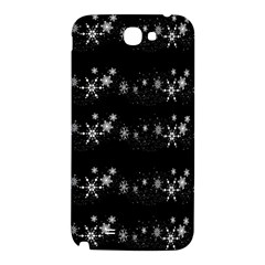 Black elegant  Xmas design Samsung Note 2 N7100 Hardshell Back Case