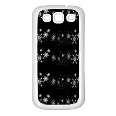 Black elegant  Xmas design Samsung Galaxy S3 Back Case (White)