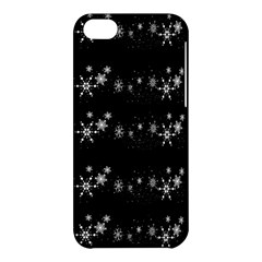Black elegant  Xmas design Apple iPhone 5C Hardshell Case
