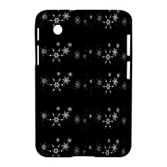 Black elegant  Xmas design Samsung Galaxy Tab 2 (7 ) P3100 Hardshell Case
