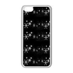 Black elegant  Xmas design Apple iPhone 5C Seamless Case (White)