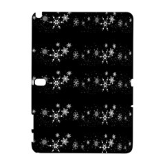 Black elegant  Xmas design Samsung Galaxy Note 10.1 (P600) Hardshell Case