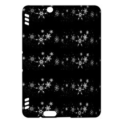 Black elegant  Xmas design Kindle Fire HDX Hardshell Case