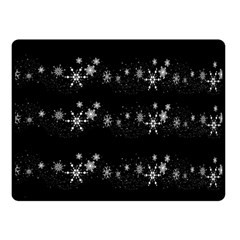Black elegant  Xmas design Double Sided Fleece Blanket (Small)