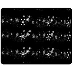 Black elegant  Xmas design Double Sided Fleece Blanket (Medium)