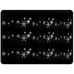 Black elegant  Xmas design Double Sided Fleece Blanket (Large)