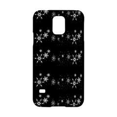 Black elegant  Xmas design Samsung Galaxy S5 Hardshell Case