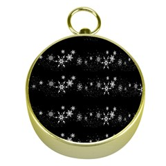 Black elegant  Xmas design Gold Compasses