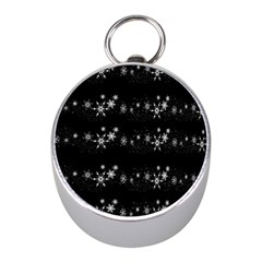 Black elegant  Xmas design Mini Silver Compasses