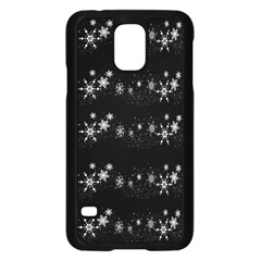 Black elegant  Xmas design Samsung Galaxy S5 Case (Black)